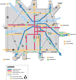 Park-and-ride locations map